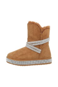 Teddy bear boots with narrow simili straps