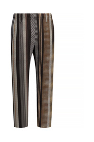 Patterned pleated trousers
