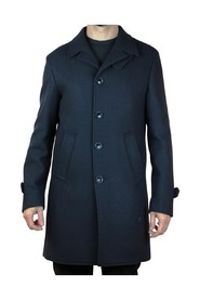 SINGLE-BREASTED COAT WITH THREAD POCKETS