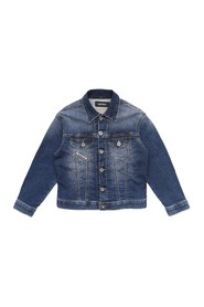 DIESEL 00J4QG KXB3K JWANO JACKET AND JACKETS Unisex Boys DENIM MEDIUM BLUE