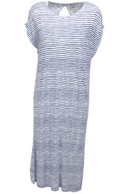 F.A.V Marina J Back Slit Dress Blue Stripe