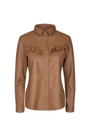 COCO FRILL LEATHER SHIRT