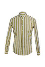 SHIRT WITH WIDE COTTON STRIP