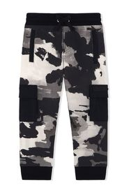 camouflage-print track pants