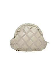 essential s clutch woven leather