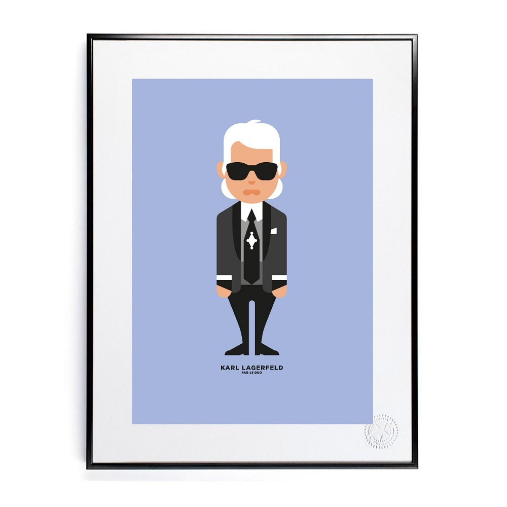 Plakat 30 x 40, Le Duo, Karl Lagerfeld