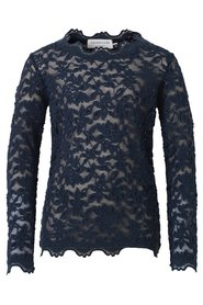 Rosemunde - Blondebluse LS - Dark Blue