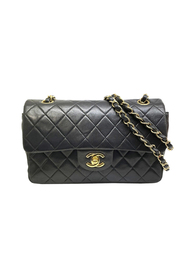 Pre-owned Classic Medium Lambskin Leather Double Flap Bag