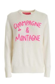 CHAMPAGNE & MONTAGNE EMBROIDERY PULLOVER