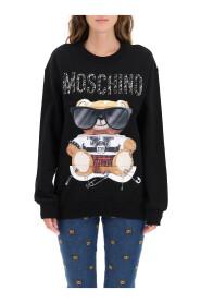 mixed teddy bear crewneck sweatshirt