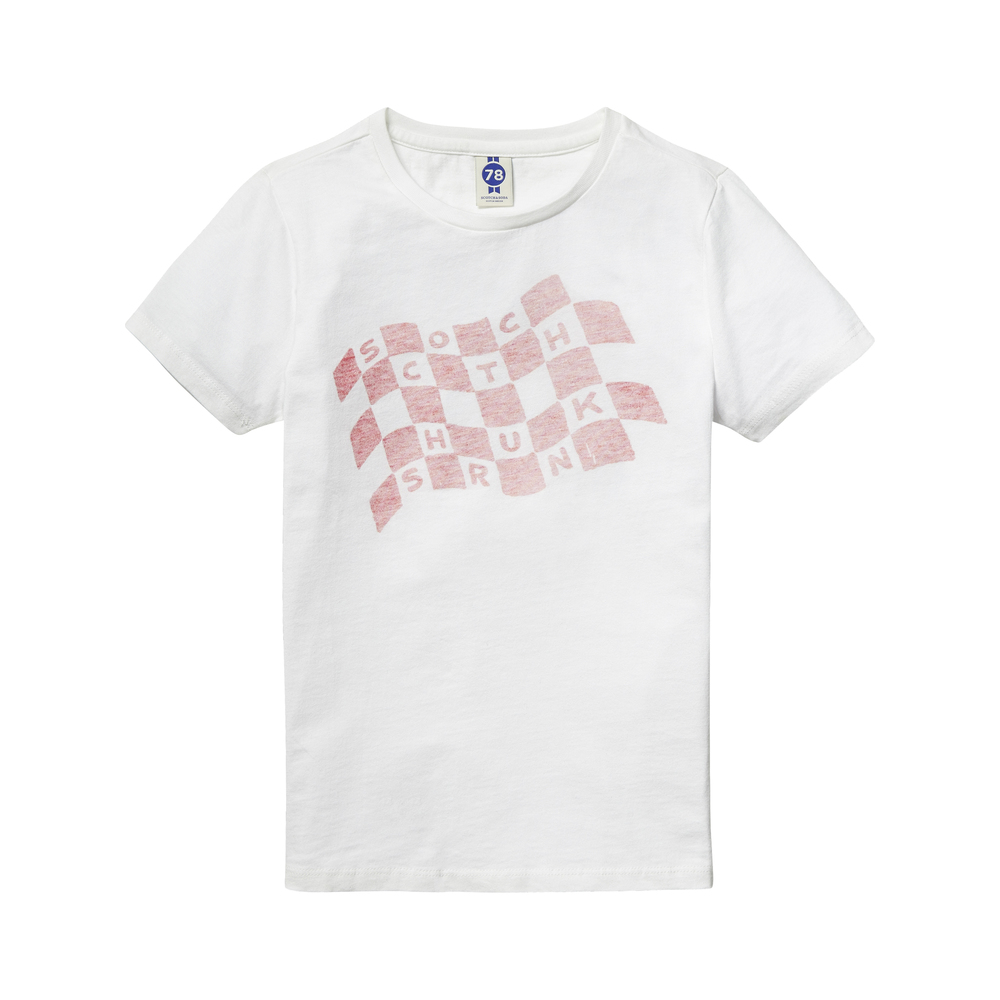 Scotch Shrunk t-shirt vit