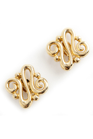 swirl clip on earrings