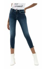 Jeans cropped effetto push up