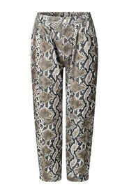Luna Snake Pants - matte beige snake