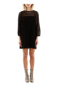 Perforated mini dress