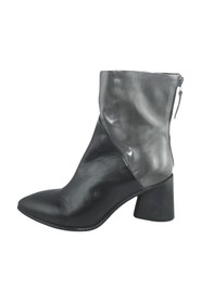 BICOLORED ANKLE BOOT WITH ZIPPER, 8CM HEEL