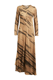 NOELL WILD STRIPE LONG DRESS