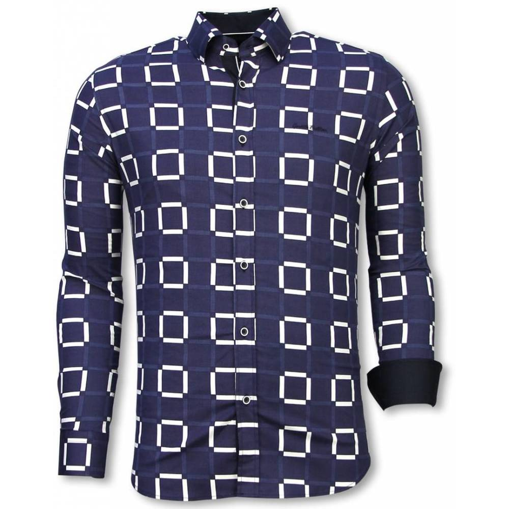 Slim Fit Shirt Block Pattern