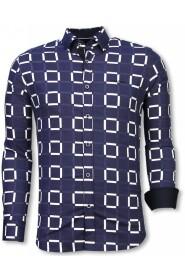 Slim Fit Shirt Block Pattern