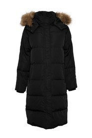 Skylar Down Hood Fur Jacket