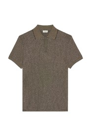 Polo Shirt In Ribbed Lame Jersey Jacquard