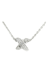 Signature Diamond Pendant Necklace  18K
