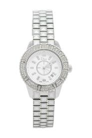 Pre-owned Stainless Steel Diamonds Christal CD113118M001 Wristwatch