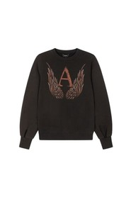 knitted A-wings sweater