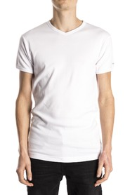 Slater T-Shirt Body Fit V-Neck White