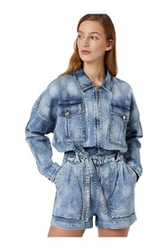 SHORT JUMPSUIT IN DENIM