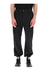 shadow project chino trousers with logo badge