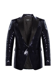 Shimmering blazer with notched lapels