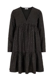 Smock dress polka-dot V-neck