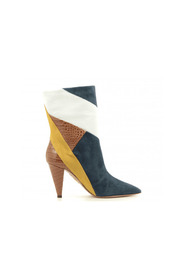 Patchwork ankle boots