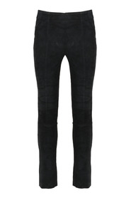 SUEDE SKINNY TROUSERS