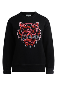 Sweatshirt with fluorescent tiger