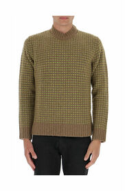 Check Pattern Knitted Jumper