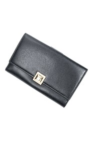pre-owned Stud Compact Trifold Wallet