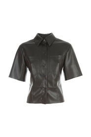 LEATHER 3/4S SHIRT