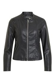 Faux Leather Jacket Short