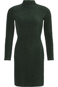 RIB DRESS TURTLE NECK