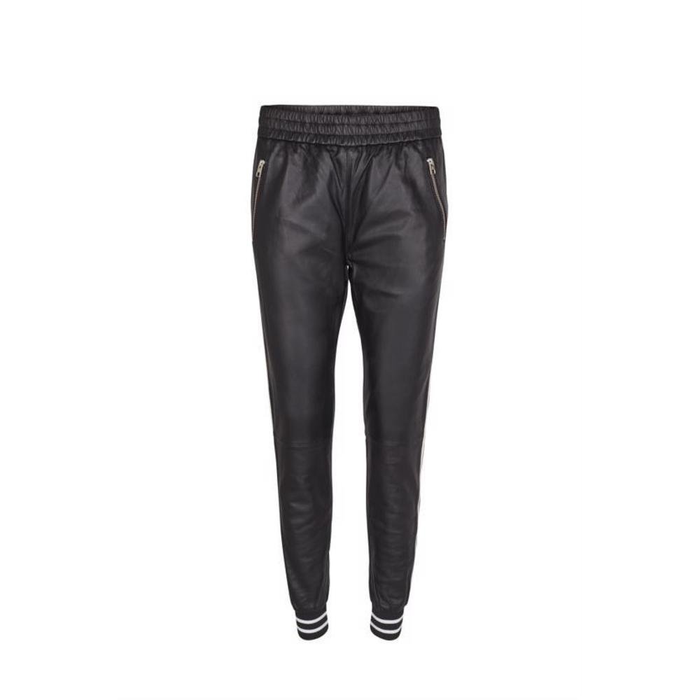 Black Mos Mosh Levon Leather Pant
