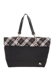 Plaid Nylon Tote Bag
