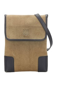 Anagram Suede Crossbody Bag
