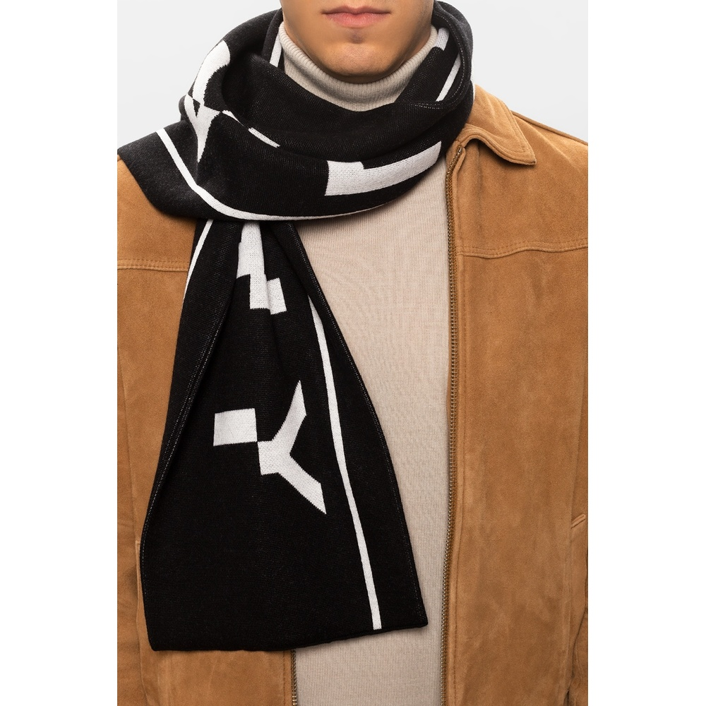 Black Wool scarf with logo | Givenchy | Sjaals | Heren accessoires