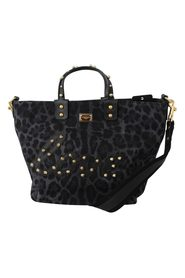 Leopard Love Patch Studs Shopping Tote Bag