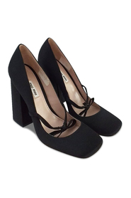 Black Square Toe Pumps