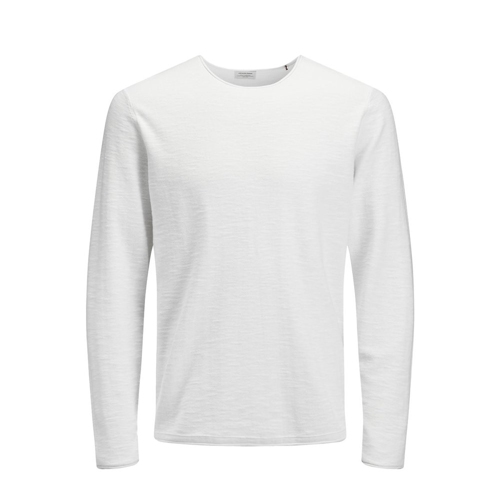 Knitted Pullover Roll edges crew neck