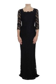 Floral Lace Long Ball Maxi klänning