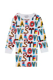 Dress with Loves Print